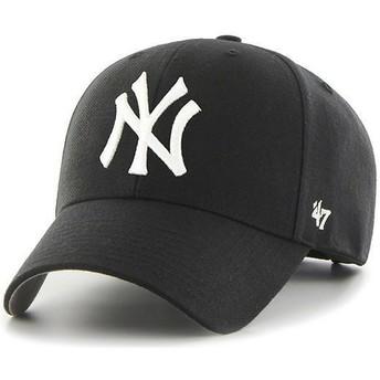 Boné curvo preto para criança da New York Yankees MLB MVP da 47 Brand