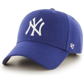 Boné curvo azul para criança da New York Yankees MLB MVP da 47 Brand