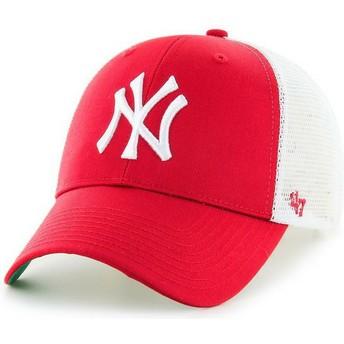 Boné trucker vermelho da New York Yankees MLB MVP da 47 Brand
