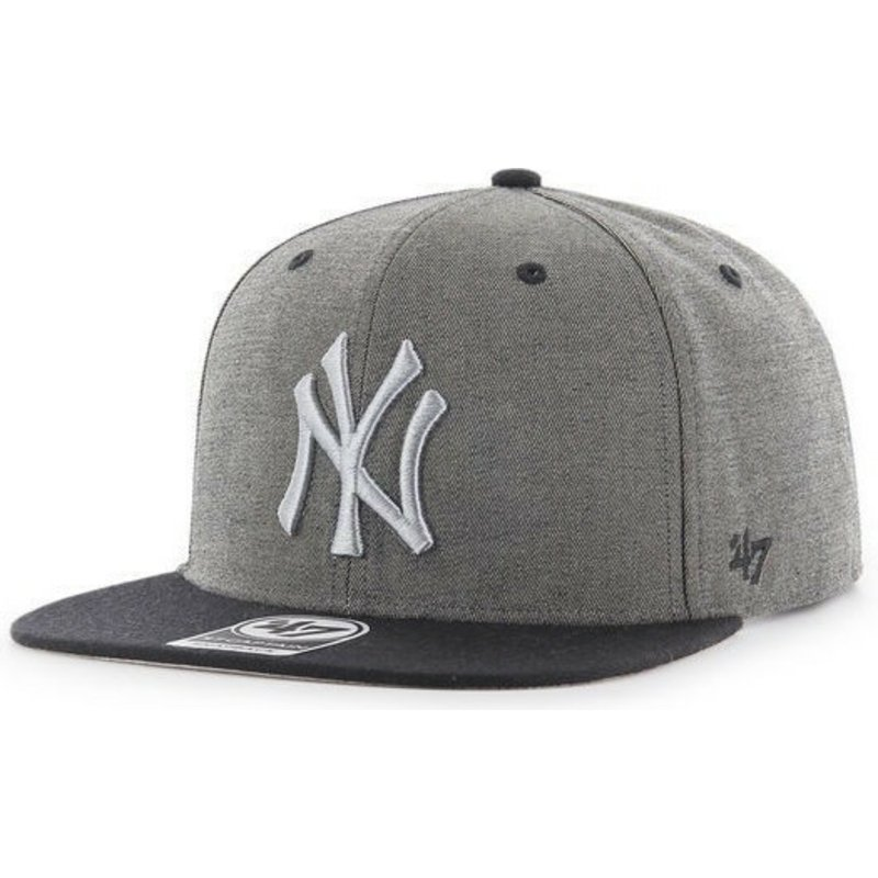 bone-plano-cinza-marmoreado-snapback-da-new-york-yankees-mlb-captain-da-47-brand