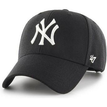 Boné curvo preto snapback da New York Yankees MLB MVP da 47 Brand
