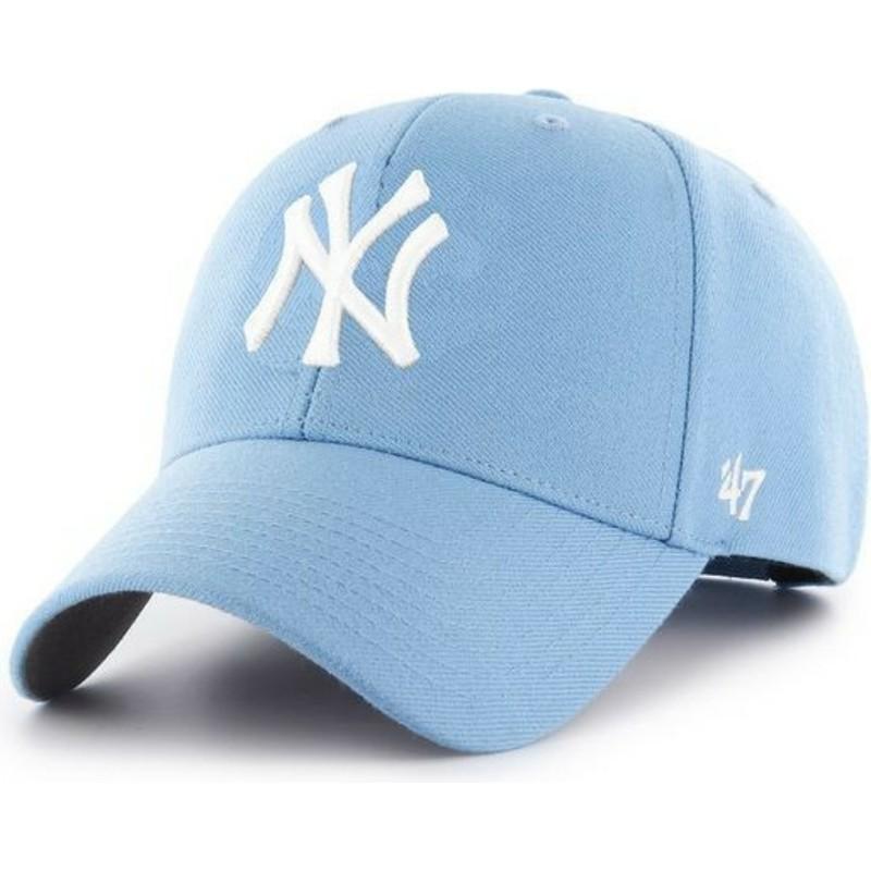 8f62ba24fee13 Boné curvo azul claro snapback da New York Yankees MLB MVP da 47 ...