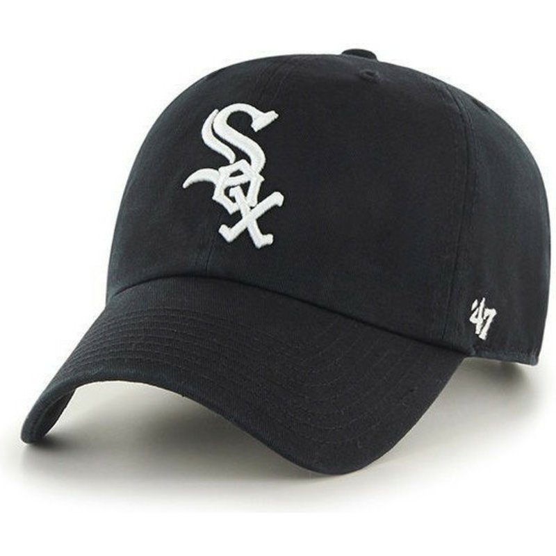bone-curvo-preto-da-chicago-white-sox-mlb-clean-up-da-47-brand