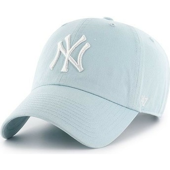 Boné curvo azul claro da New York Yankees MLB Clean Up da 47 Brand