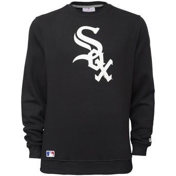 Sweatshirt preto Crew Neck da Chicago White Sox MLB da New Era