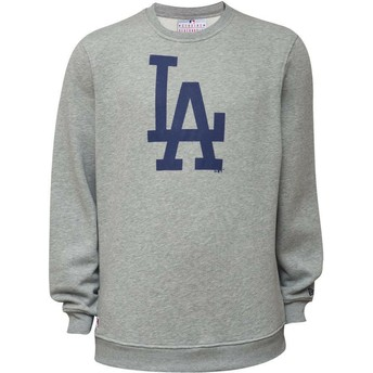 Sweatshirt cinza Crew Neck da Los Angeles Dodgers MLB da New Era