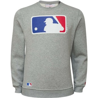 Sweatshirt cinza Crew Neck da MLB da New Era