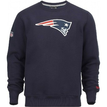 Sweatshirt azul Crew Neck da New England Patriots NFL da New Era