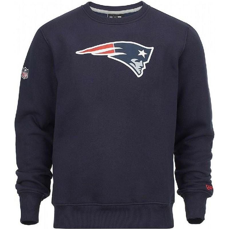 Sweatshirt Azul Crew Neck Da New England Patriots Nfl Da
