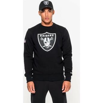 Sweatshirt preto Crew Neck da Las Vegas Raiders NFL da New Era