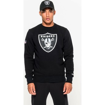 Sweatshirt preto Crew Neck da Oakland Raiders NFL da New Era