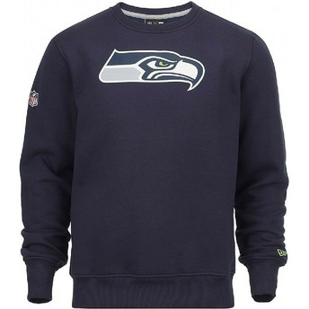 Sweatshirt azul Crew Neck da Seattle Seahawks NFL da New Era