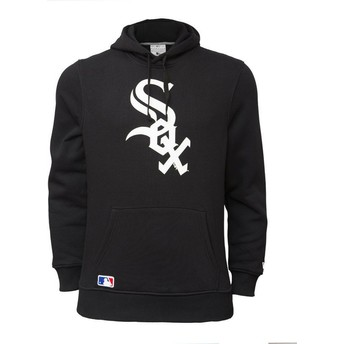 Moletom com capuz preto Pullover Hoodie da Chicago White Sox MLB da New Era