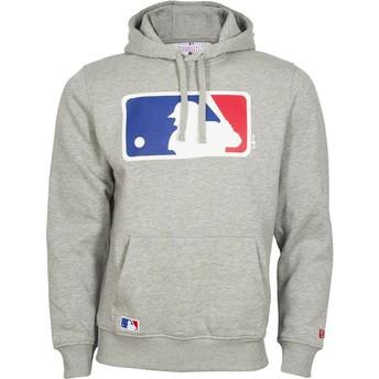 Moletom com capuz cinza Pullover Hoodie da MLB da New Era