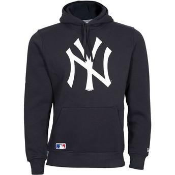 Moletom com capuz azul marinho Pullover Hoodie da New York Yankees MLB da New Era