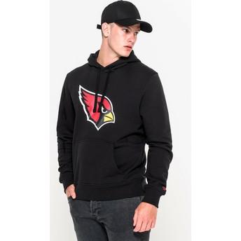 Moletom com capuz preto Pullover Hoodie da Arizona Cardinals NFL da New Era