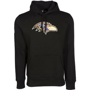 Moletom com capuz preto Pullover Hoodie da Baltimore Ravens NFL da New Era