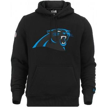 Moletom com capuz preto Pullover Hoodie da Carolina Panthers NFL da New Era