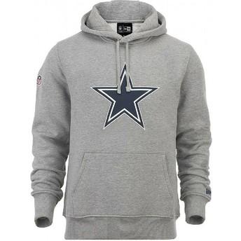 Moletom com capuz cinza Pullover Hoodie da Dallas Cowboys NFL da New Era