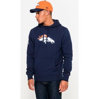 Moletom com capuz azul Pullover Hoodie da Denver Broncos NFL da New Era
