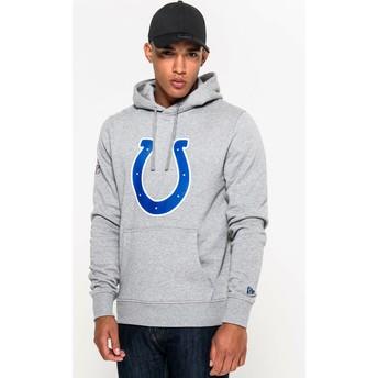 Moletom com capuz cinza Pullover Hoodie da Indianapolis Colts NFL da New Era