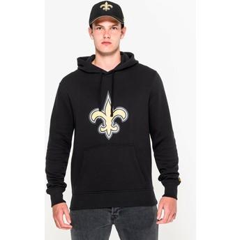 Moletom com capuz preto Pullover Hoodie da New Orleans Saints NFL da New Era