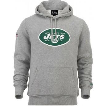 Moletom com capuz cinza Pullover Hoodie da New York Jets NFL da New Era
