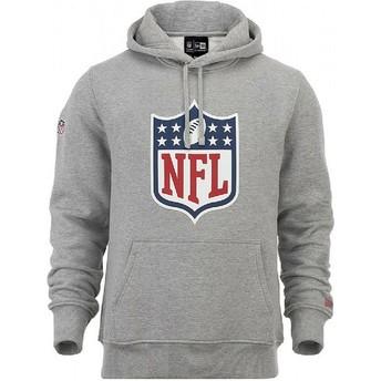 Moletom com capuz cinza Pullover Hoodie da NFL da New Era