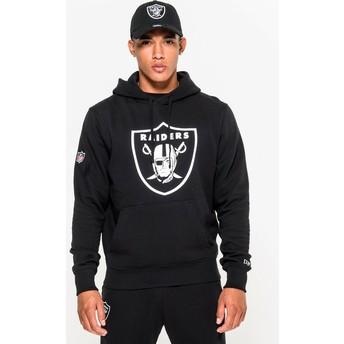 Moletom com capuz preto Pullover Hoodie da Oakland Raiders NFL da New Era