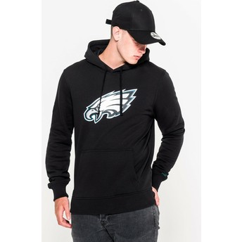 Moletom com capuz preto Pullover Hoodie da Philadelphia Eagles NFL da New Era