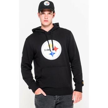 Moletom com capuz preto Pullover Hoodie da Pittsburgh Steelers NFL da New Era
