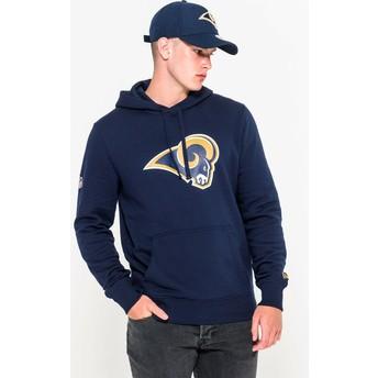 Moletom com capuz azul Pullover Hoodie da Los Angeles Rams NFL da New Era