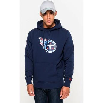 Moletom com capuz azul Pullover Hoodie da Tennessee Titans NFL da New Era