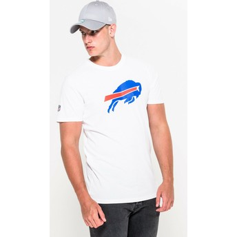 Camiseta de manga curta branco da Buffalo Bills NFL da New Era