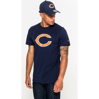 Camiseta de manga curta azul da Chicago Bears NFL da New Era