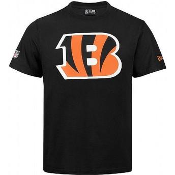 Camiseta de manga curta preto da Cincinnati Bengals NFL da New Era