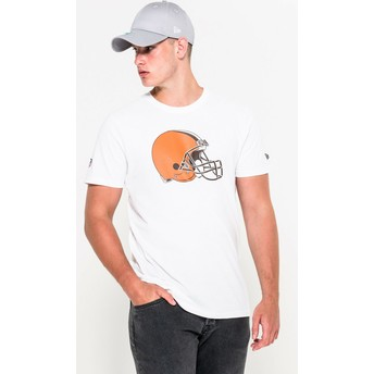 Camiseta de manga curta branco da Cleveland Browns NFL da New Era