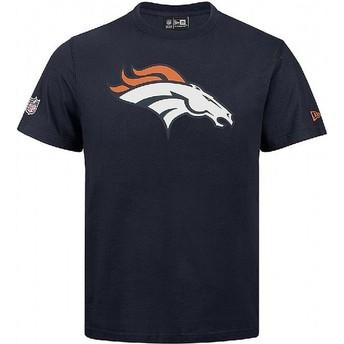 Camiseta de manga curta azul da Denver Broncos NFL da New Era