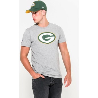 Camiseta de manga curta cinza da Green Bay Packers NFL da New Era