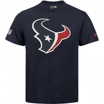 Camiseta de manga curta azul da Houston Texans NFL da New Era