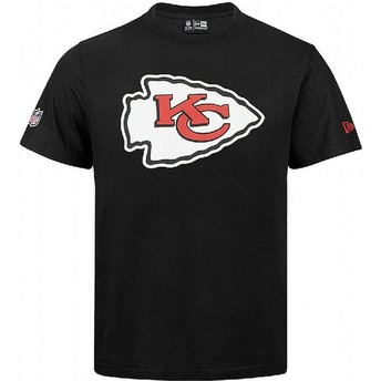 Camiseta de manga curta preto da Kansas City Chiefs NFL da New Era