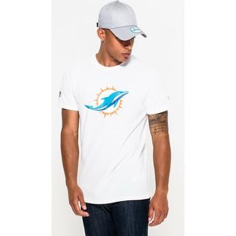 Camiseta de manga curta branco da Miami Dolphins NFL da New Era