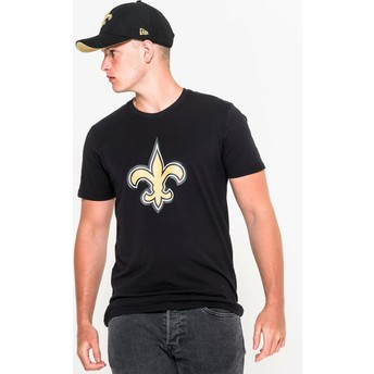 Camiseta de manga curta preto da New Orleans Saints NFL da New Era