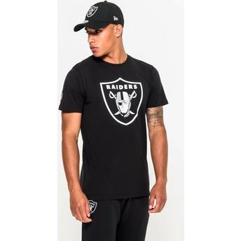 Camiseta de manga curta preto da Las Vegas Raiders NFL da New Era