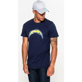 Camiseta de manga curta azul da San Diego Chargers NFL da New Era