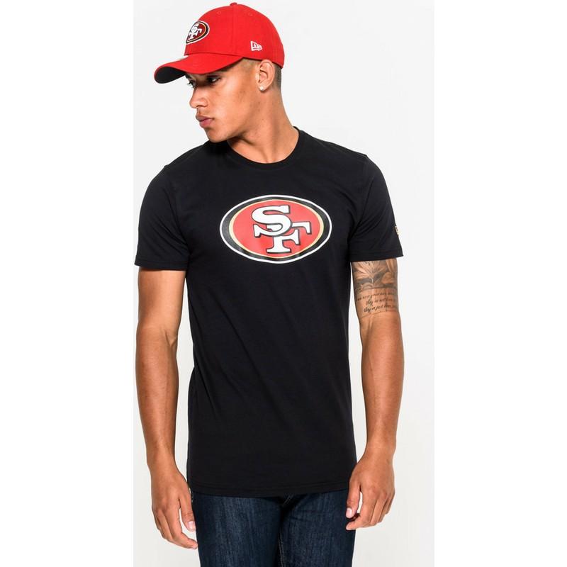 a3b9662a13 Camiseta de manga curta preto da San Francisco 49ers NFL da New Era ...