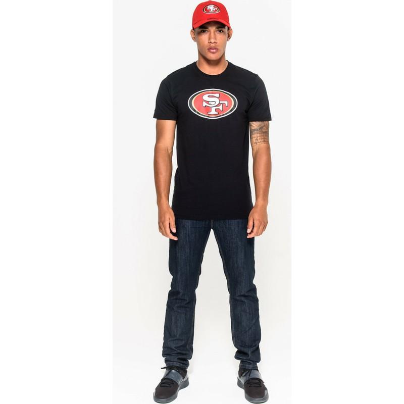 e239ea1ba1 ... 49ers NFL da New Era. camiseta-de-manga-curta-preto-da-san-francisco-