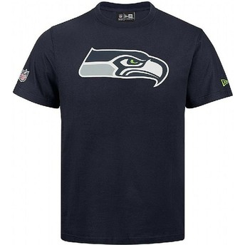 Camiseta de manga curta azul da Seattle Seahawks NFL da New Era