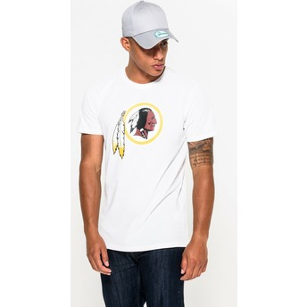 Camiseta de manga curta branco da Washington Redskins NFL da New Era