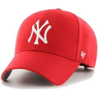 Boné curvo vermelho da New York Yankees MLB MVP da 47 Brand